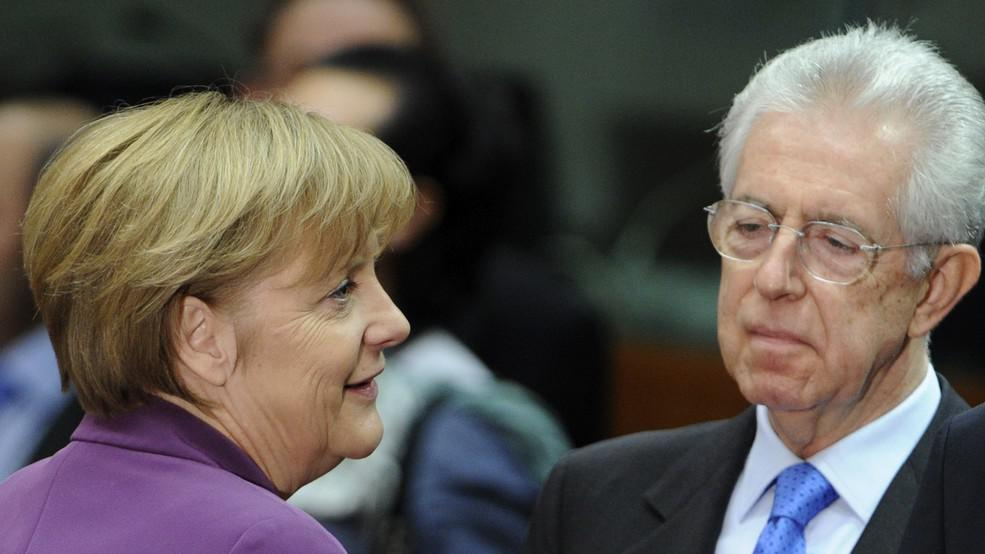 Angela Merkelová a Mario Monti