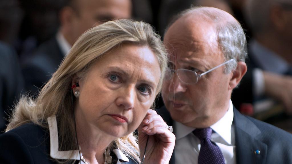 Hillary Clintonová na konferenci v Paříži