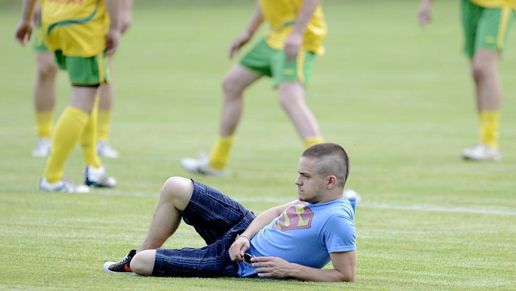 47. MFF KV: Jiří Mádl při charitativním fotbalovém utkání