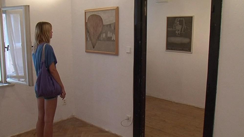 Výstava Oldřicha Tomana v bytové galerii