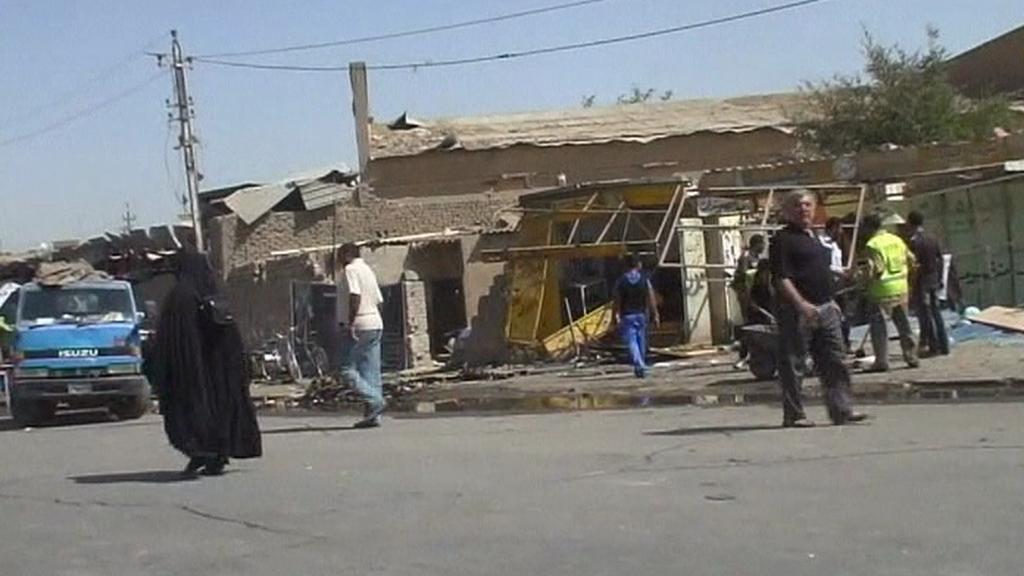 Následky útoku v Iráku