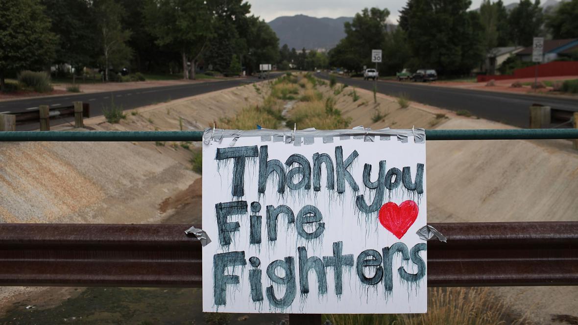 Poděkování hasičům v Colorado Springs