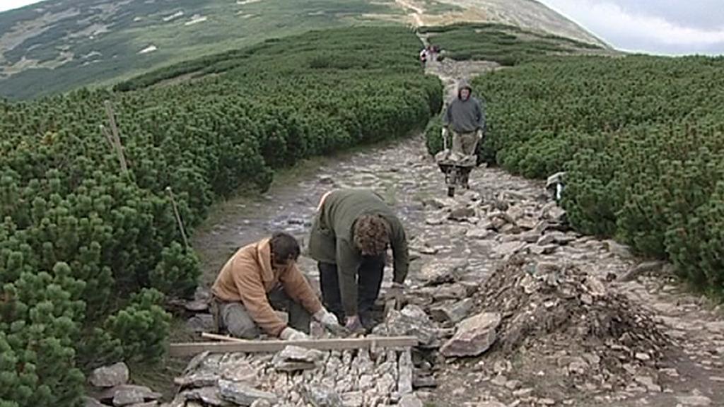 Oprava turistické stezky
