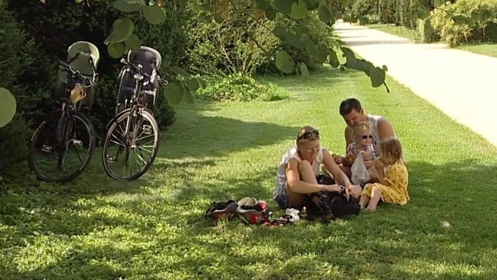 Lednicko-valtický areál láká k návštěvě i cyklisty s malými dětmi