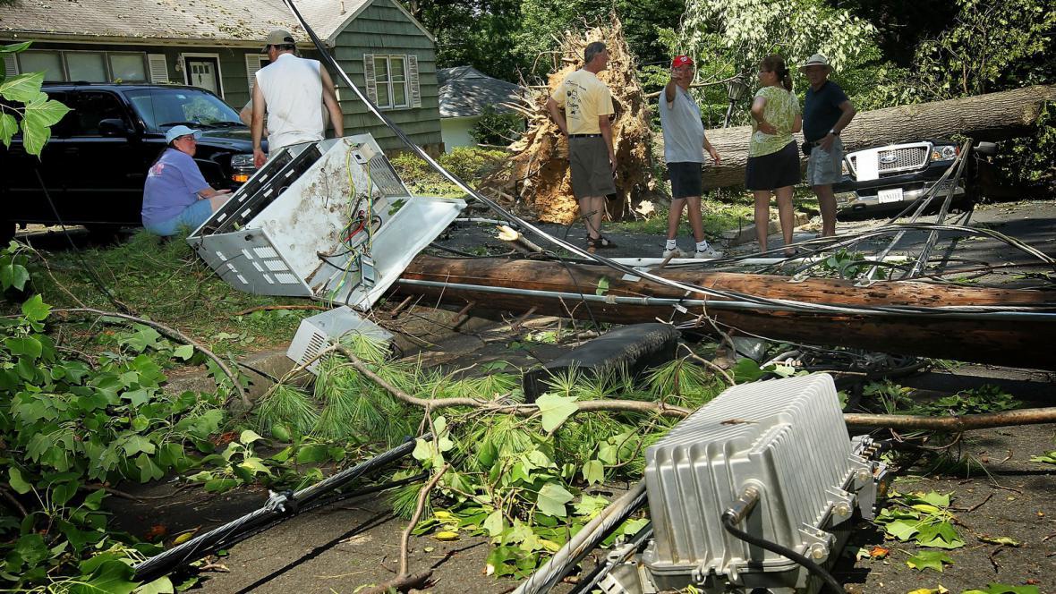 Následky bouře ve Washingtonu