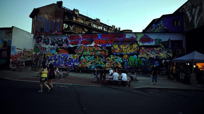 Graffiti jam na Trafačce