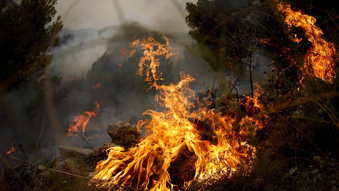 Požár poblíž Valencie
