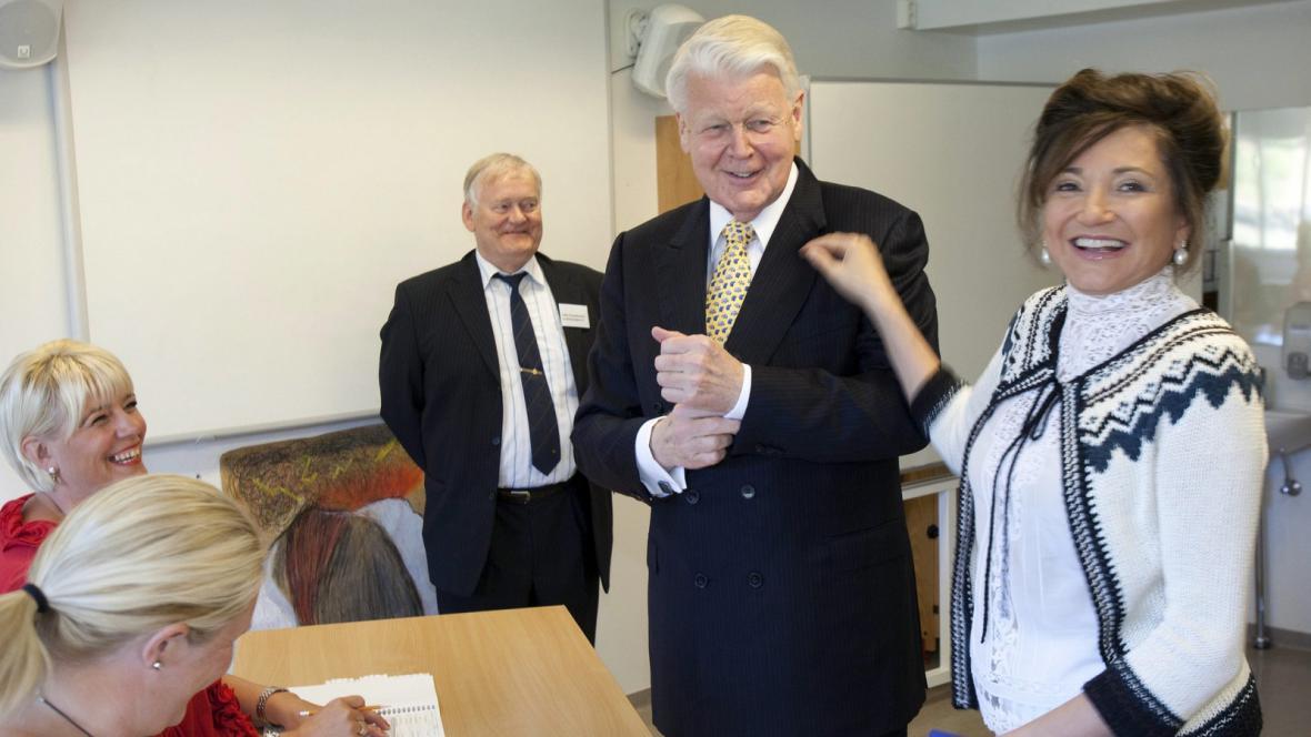 Ólafur Ragnar Grímsson s manželkou