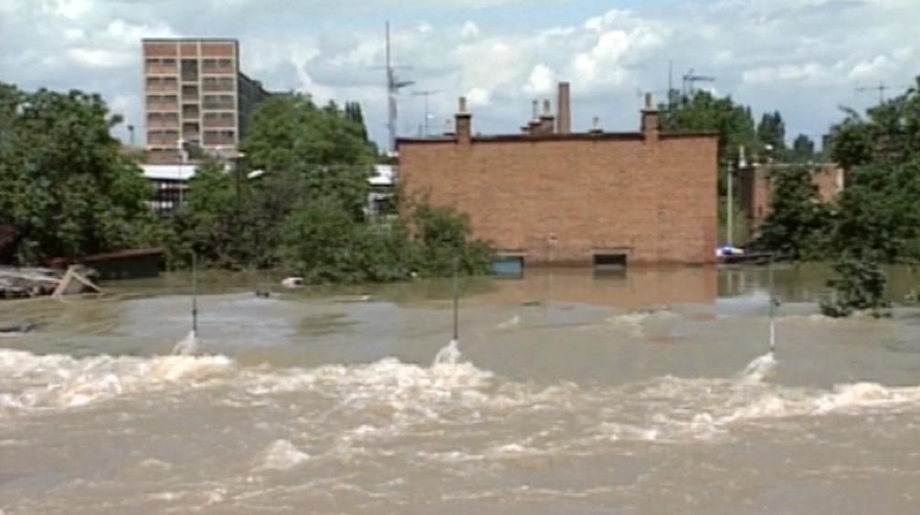 Záplavy v Otrokovicích