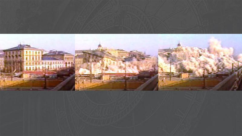 Demolice těšnovského nádraží