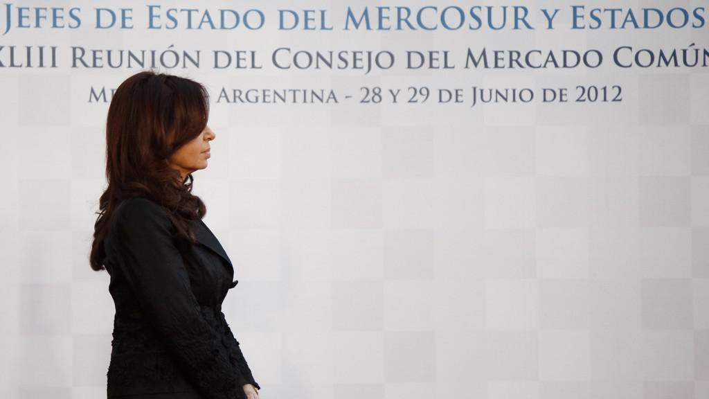 Argentinská prezidentka Cristina Fernándezová na summitu Mercosur v argentinské Mendoze