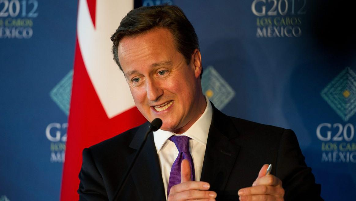 Britský premiér David Cameron na tiskové konferenci summitu G20