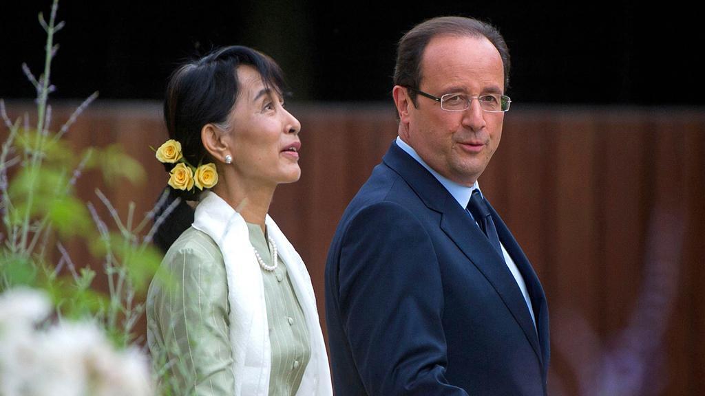 Su Ťij a François Hollande