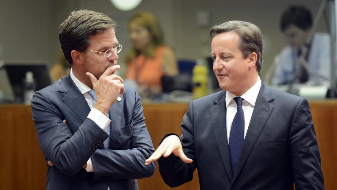 Mark Rutte a David Cameron