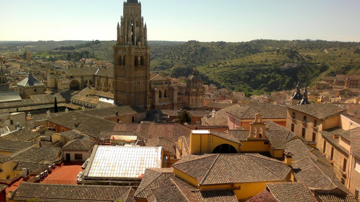 Toledo z ptačí perspektivy