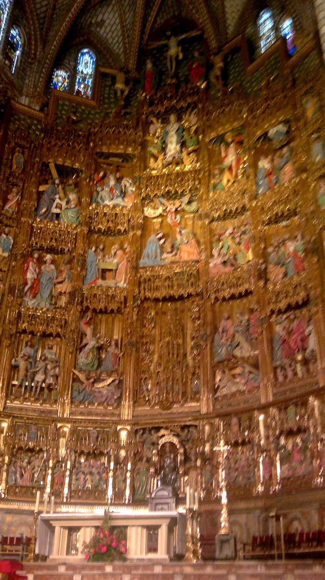 Oltář toledské katedrály