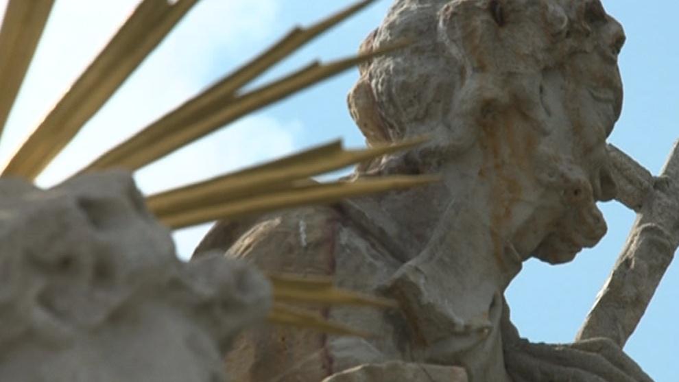 Opravená socha