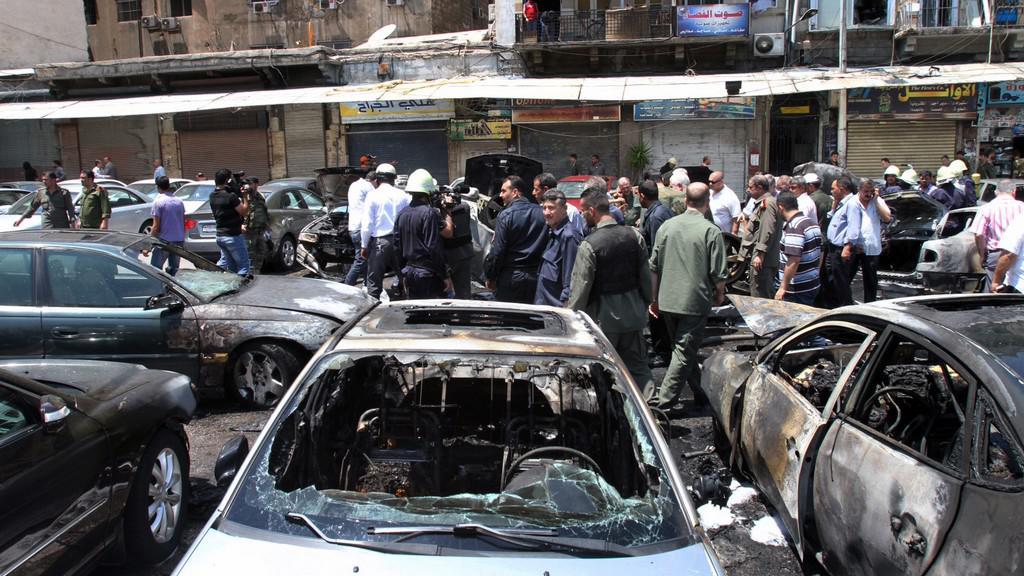 Výbuch v centru Damašku