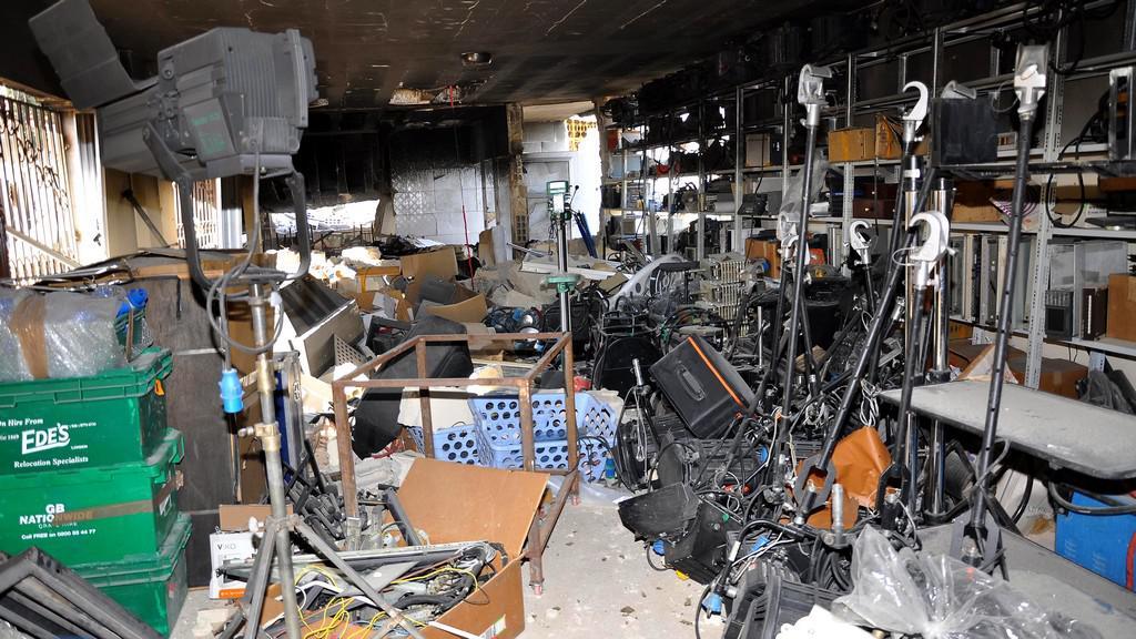 Útok na syrskou televizi