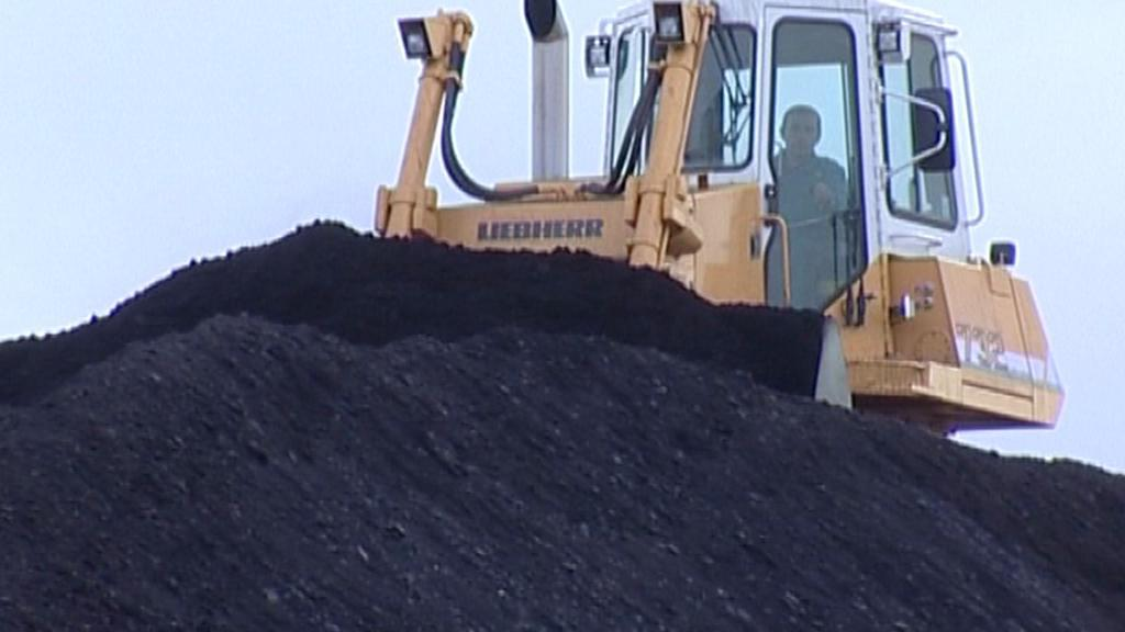Skládka uhlí