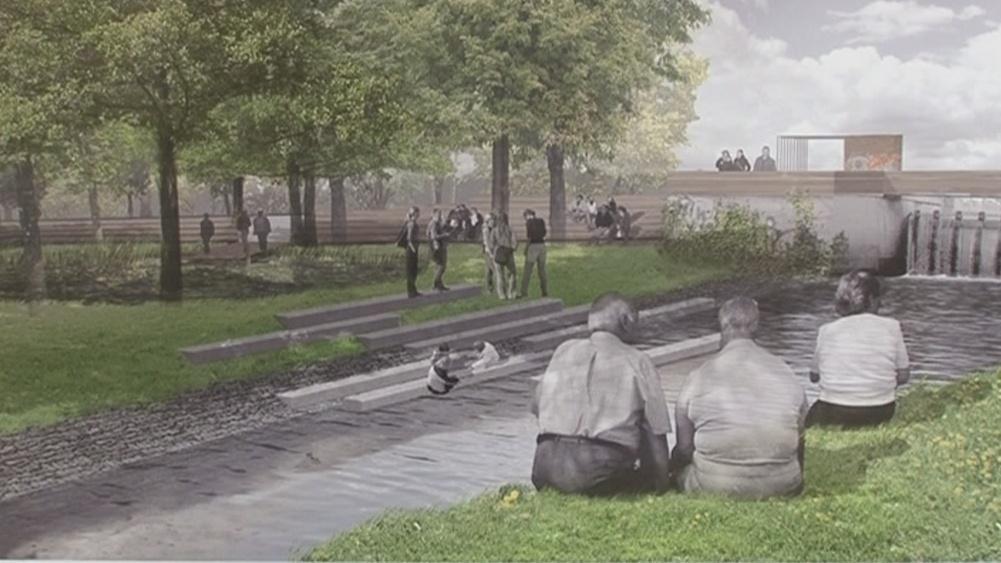 Architekti chtějí, aby se lidé u řeky zastavili