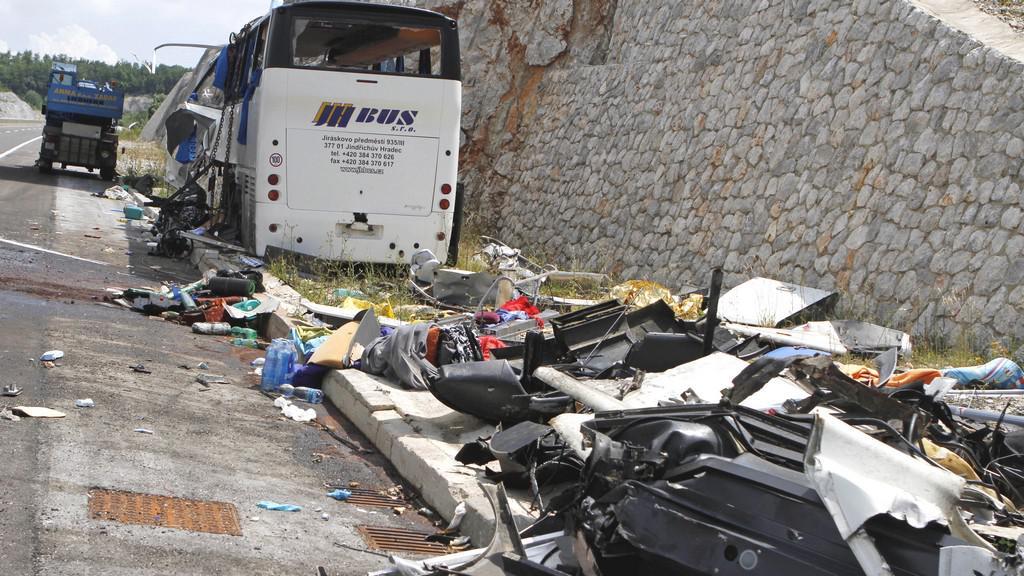 V Chorvatsku havaroval český autobus