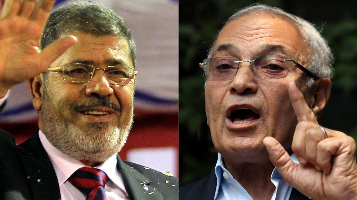 Muhammad Mursí a Ahmad Šafík
