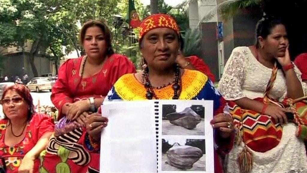 Venezuelští indiáni chtějí zpět svůj kámen