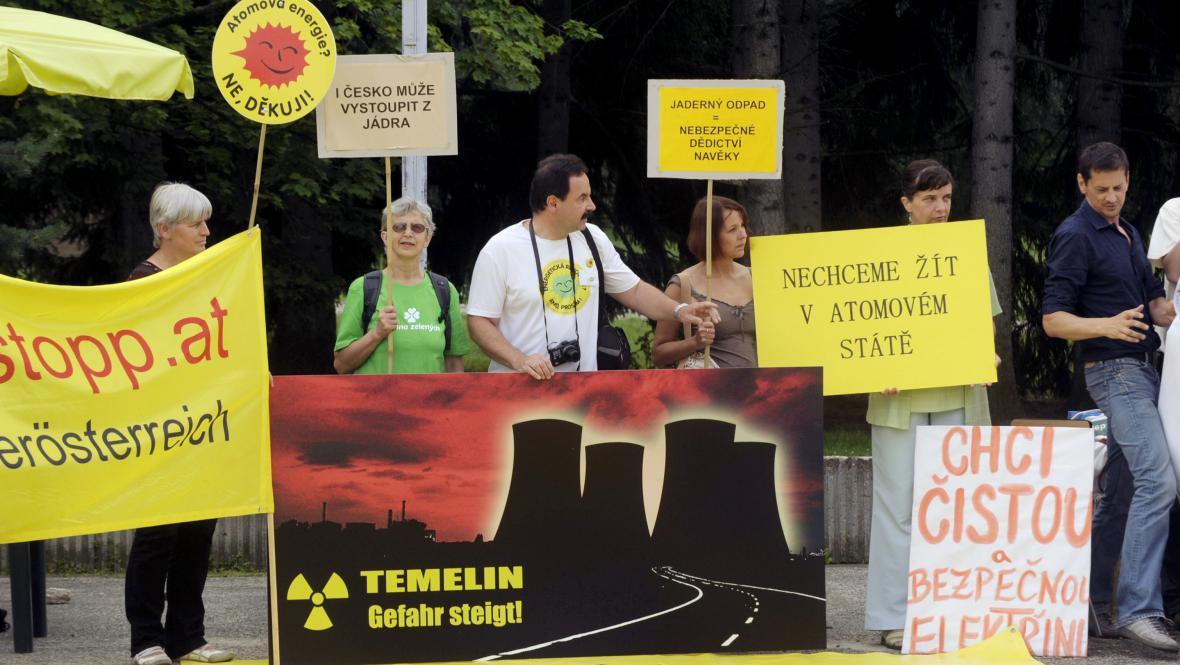 Protest proti dostavbě Temelína