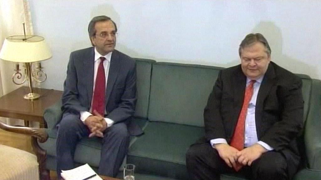 Antonis Samaras a Evangelos Venizelos