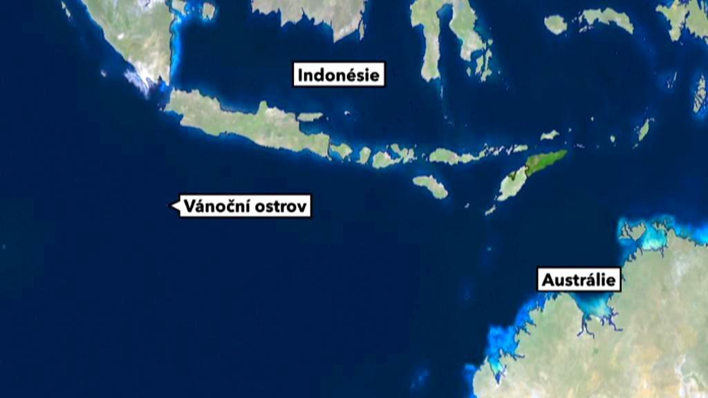 Vánoční ostrov na mapě