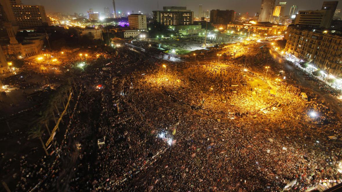 Protesty na náměstí Tahrír