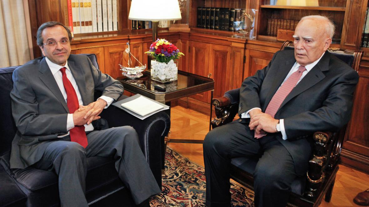 Antonis Samaras a Karolos Papulias