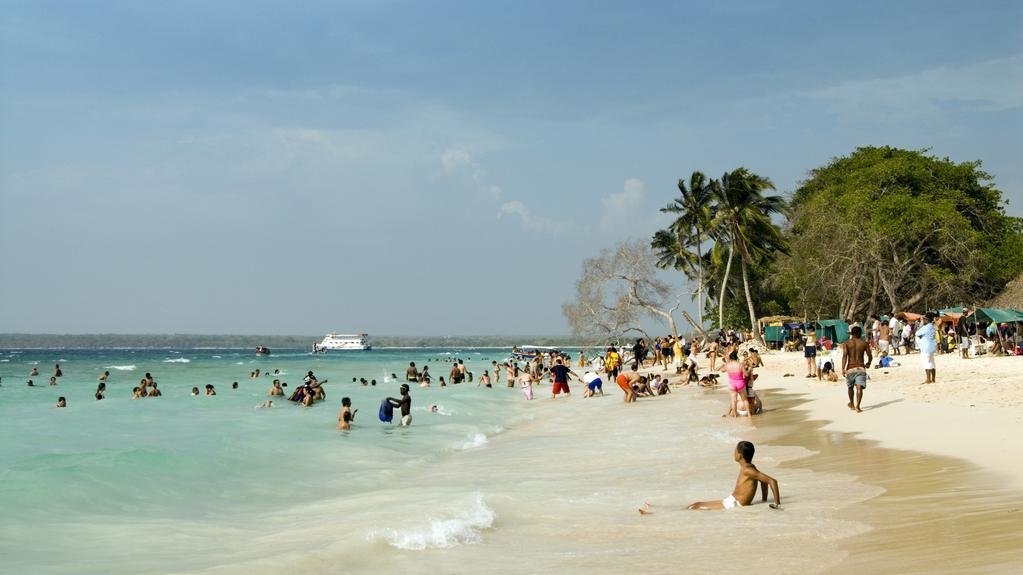 Karibská pláž v Kolumbii