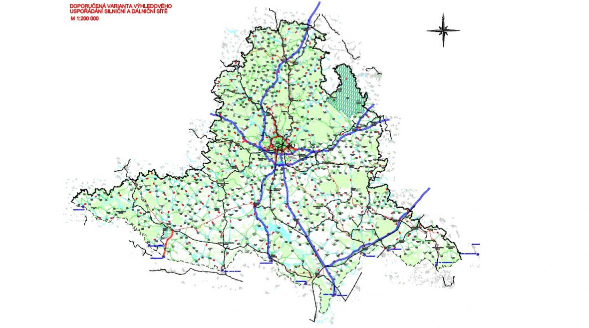 Jihomoravská silniční síť v roce 2030