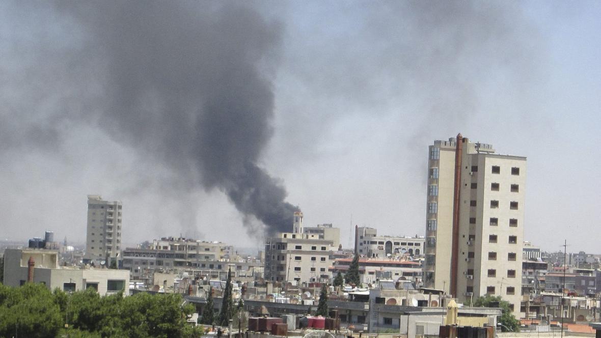 Homs pod palbou