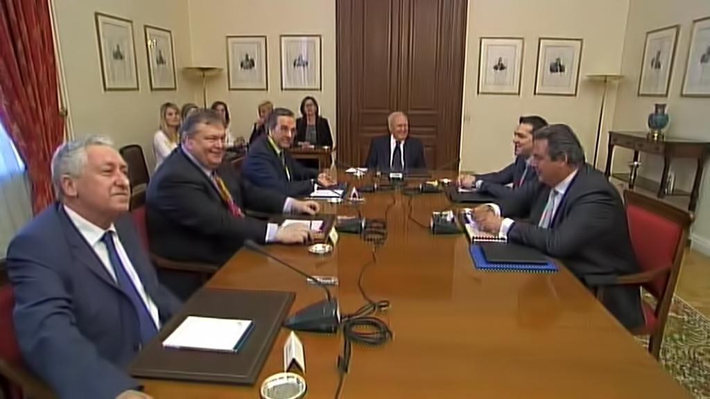 Jednání o koaliční vládě u řeckého prezidenta