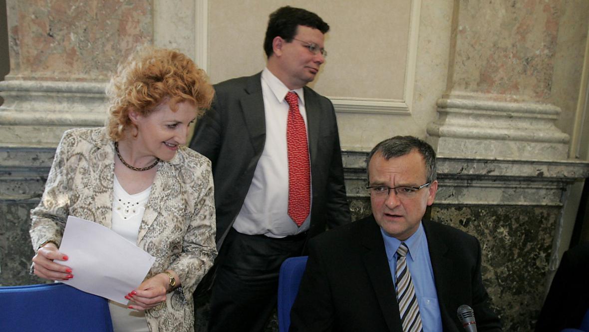 Vlasta Parkanová, Alexandr Vondra a Miroslav Kalousek