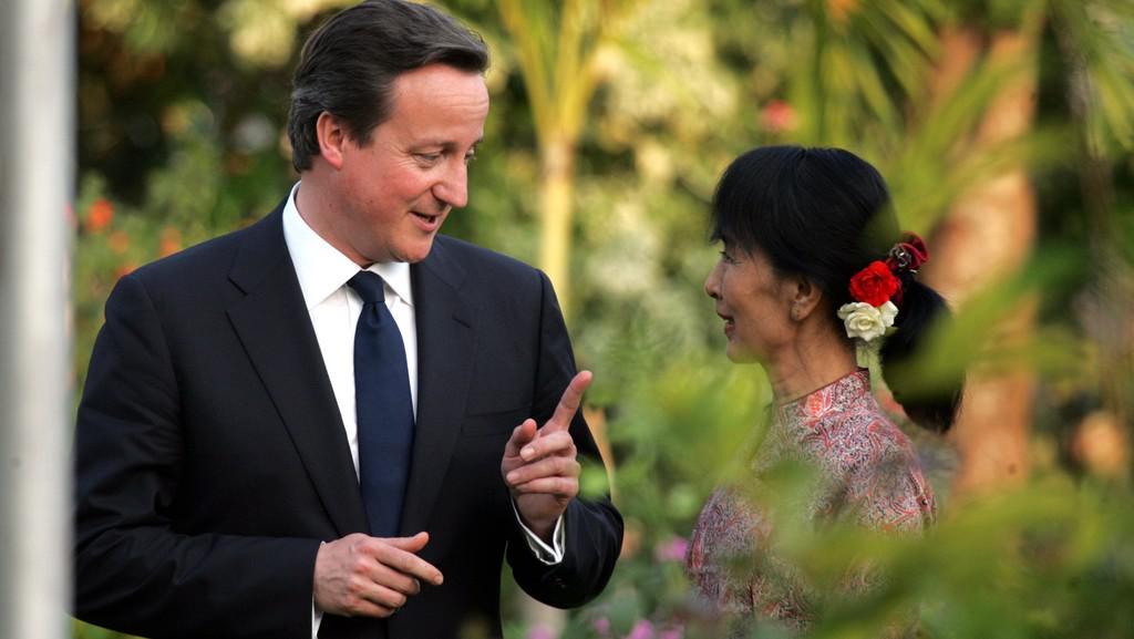 David Cameron a Su Ťij