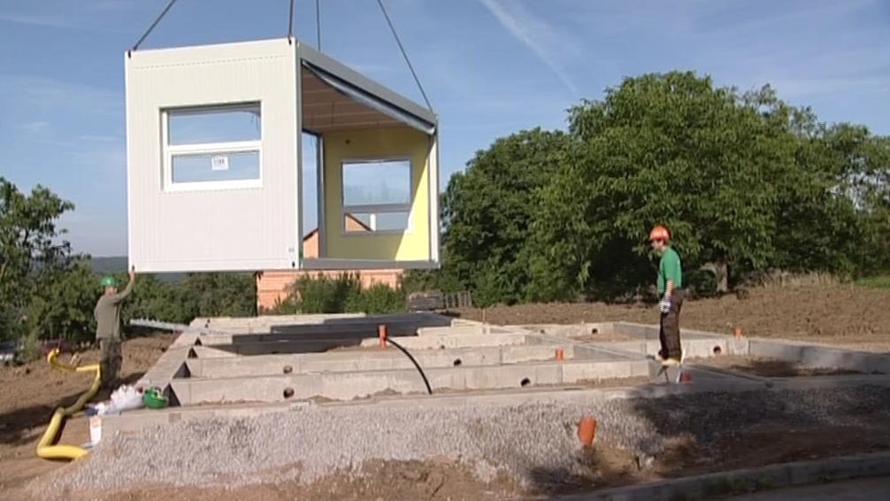 Stavba školky v Brně-Ořešíně