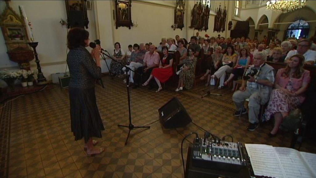 Marie Rottrová za záchranu kostela v Hrušově