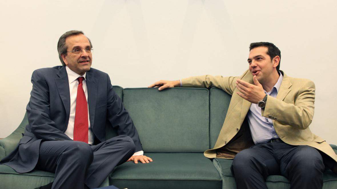 Antonis Samaras a Alexis Tsipras