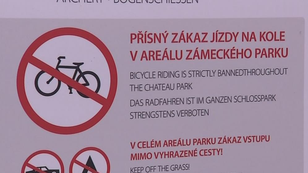 Informační tabule pro cyklisty