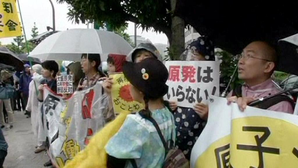 Japonci protestují proti jádru