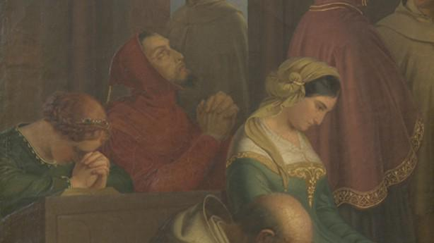 Josef Mánes / Setkání Petrarcy s Laurou