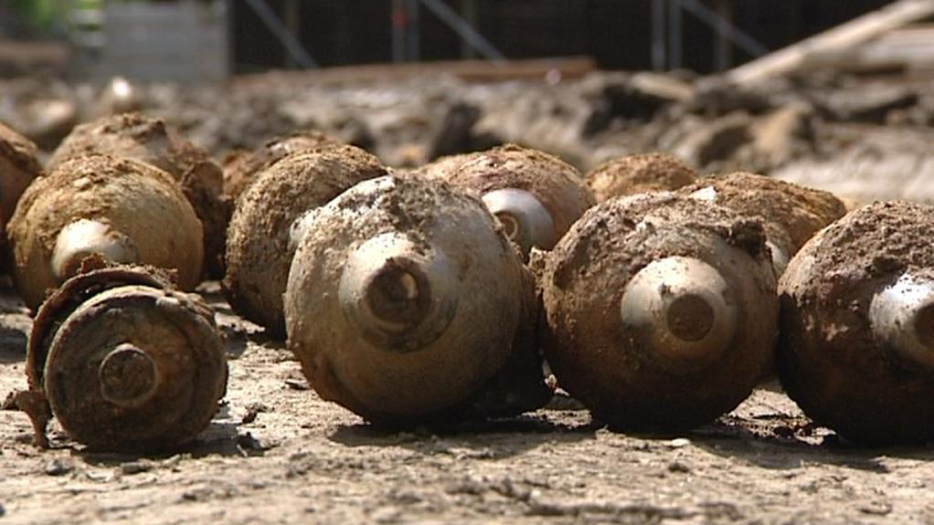 Nalezené granáty z 2. světové války