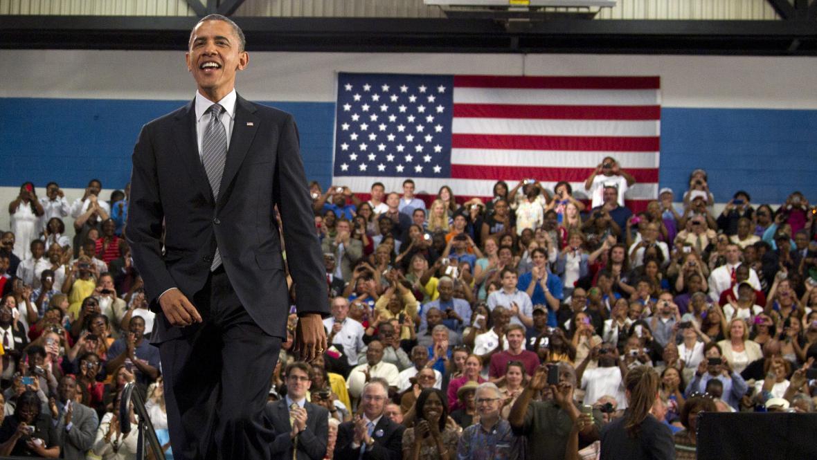 Barack Obama na Cuyahoga Community College v Clevelandu