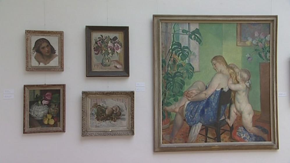 Galerie má ve sbírce téměř osmdesát obrazů od Obrovského