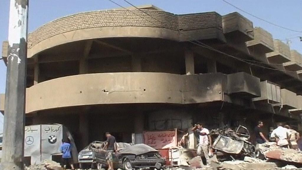 Následky výbuch v Iráku