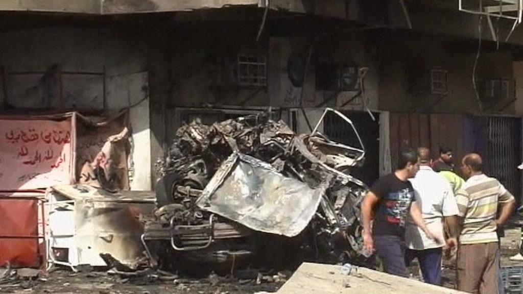 Následky útoků v Iráku